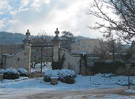 Château Grand Boise sous la neige