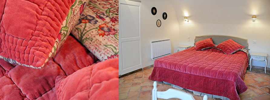 "Gris Velours"" and ""Rouge Velours bedroom - Bastide Grand Boise"