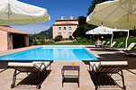 The swimming pool of the Bastide of Chateau Grand Boise